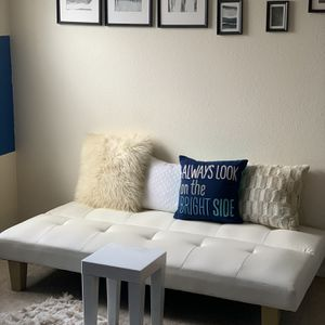 White Futon Couch - AFW - Pillows Included for Sale in Denver, CO