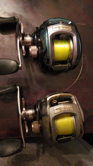 2 Johnny Morris left hand retrieve baitcast fishing reels . {contact info removed} Kevin for Sale in Houston, TX