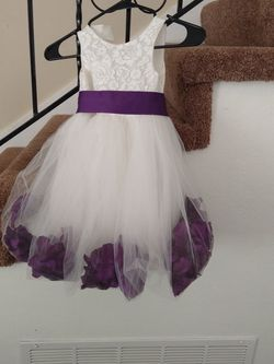 White Dress With Purple Bow And Flowers for Sale in Hayward,  CA