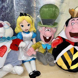 RARE Disney Alice in Wonderland Plush Set 4 lot for Sale in Bellflower, CA