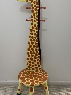 Giraffe Wooden Standing Coat Rack/Stool for Sale in Plymouth Meeting,  PA
