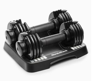 New NordicTrack 25-Pound Dumbbell Set of 2 Pair Exercise Weights Fitness Yoga for Sale in Naperville, IL