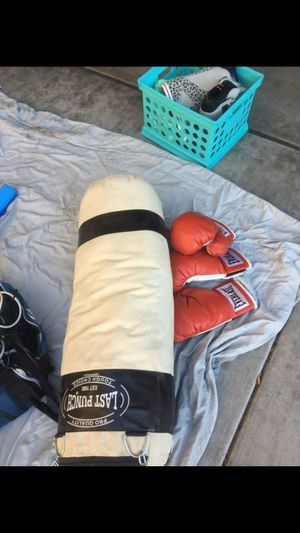Punching bag and gloves. for Sale in Mesa, AZ