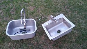 2 Kitchen sinks with faucets for Sale in Rockville, MD