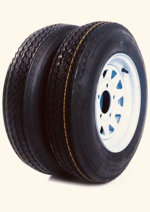 Trailer tires brand new-2 tires and rims for Sale in Pembroke Pines, FL