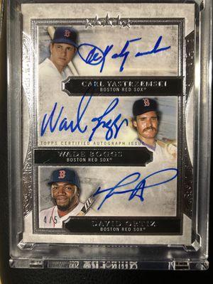 22020 topps 5 star triple autograph Carl Yastrzemski, Wade Boggs and David Ortiz for Sale in Hillsboro, OR