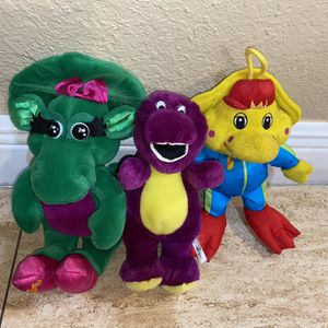 Barney And friends Baby Bop And BJ Plush Set for Sale in Miami, FL