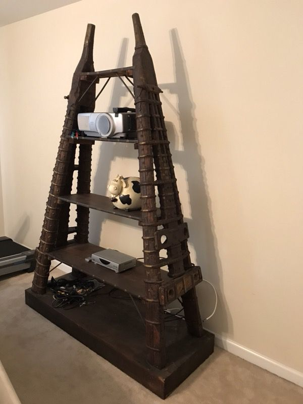 Antique wooden pyramid