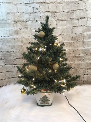 "Vtg 2004 Teleflora Spode Christmas Tree 24"" Tabletop No Original Ornaments Small CHIP for Sale in Sun City, AZ"