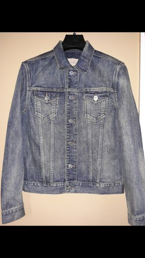 Men All Saints Denim Jacket Size Large for Sale in Queens, NY