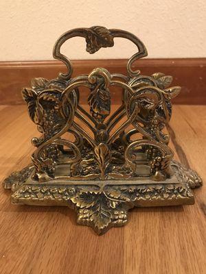 Antique Brass Napkin Holder for Sale in Mill Creek, WA
