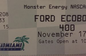 Nascar 4 homestead speedway tickets Grandstand sold out Sunday November 17 Asking for all 4 $220.00 obo Original price for each $105 plus fees for Sale in Weston, FL