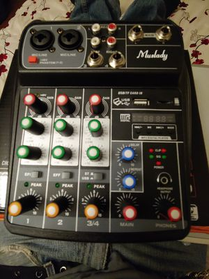 4 channel portable mixer con Bluetooth for Sale in Las Vegas, NV
