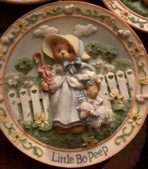 CHERISHED TEDDIES Nursery Rhyme Plates! (6 1/2 in ) 8pc for Sale in Los Angeles, CA