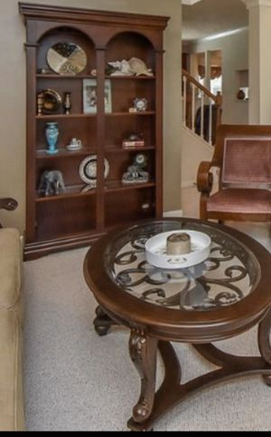 Beautiful Bookshelf - Lighted with glass shelving for Sale in Cave Springs, AR