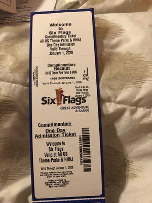Six flags tickets for Sale in Pemberton, NJ