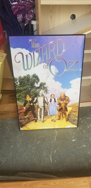 Wooden Wizard of Oz Wall Hanging for Sale in Pembroke Pines, FL