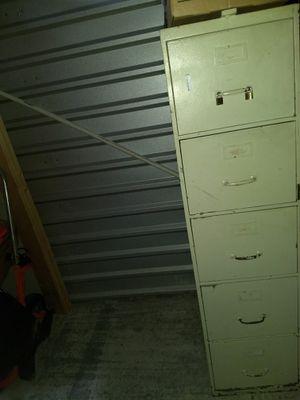 Cream metal 4-drawer filing cabinet for Sale in Atlanta, GA