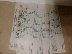 (4) tickets to Lady Antebellum CFD 7/19 Friday for Sale in Fort Collins, CO