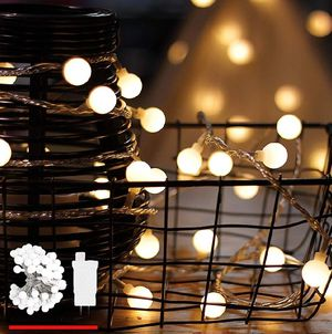 LED String Lights, by myCozyLite, Plug in String Lights, 49Ft 100 LED Warm White Globe lights for Sale in La Habra Heights, CA