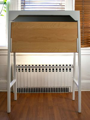"""IKEA secretary desk modified for 20"""" display for Sale in Queens, NY"""