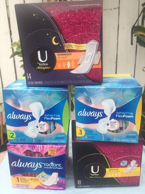 Always and U by Kotex pads for Sale in Los Angeles, CA