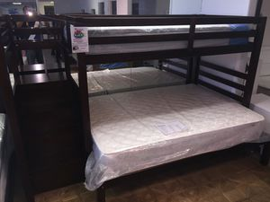 Twin over full bunk bed w/ stairs & storage for Sale in Dallas, TX