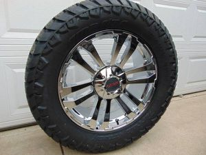 LT 305 55 20 Amp Tires & 20X9 Chrome MB TKO Ford F150*Expedition*5X135 for Sale in Aurora, CO