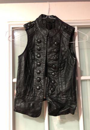 black lether vest for girls for Sale in Annandale, VA
