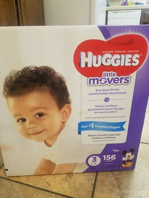 Huggies Little Movers size 3/ 156 count for Sale in Hemet, CA