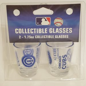2 Collectible Chicago Cubs Shot Glasses for Sale in Brookfield, IL