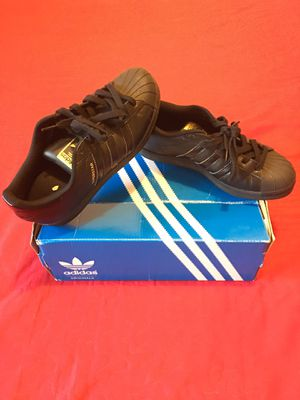 """Authentic """" Adidas"""" Superstar Style Black Classic - 3 Stripes design basically - New size 5.5 for Sale in Los Angeles, CA"""