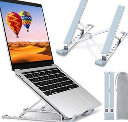 Laptop Stand, Laptop Holder Riser Computer Stand, Aluminum 9-Angles Adjustable Ventilated Cooling Notebook Stand Mount Compatible with MacBook Air Pro for Sale in Pomona,  CA