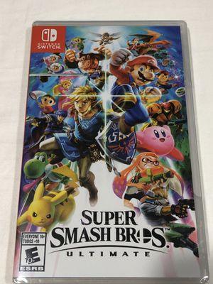 Super smash bros ultimate Nintendo switch for Sale in Ontarioville, IL
