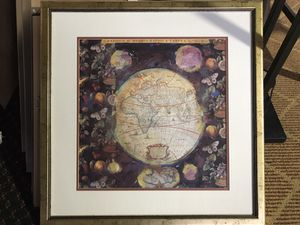 Earth projection map picture for Sale in Detroit, MI