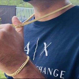 Miami Cuban Link Chain And Bracelet Set for Sale in Los Angeles, CA