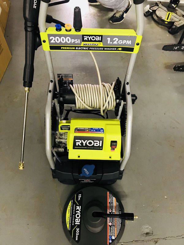 Ryobi 2000 Psi Electric Pressure Washer With Surface