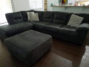 4 pc couch, reclining glider chair and an ottoman for Sale in PT CHARLOTTE, FL