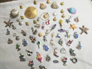 BUNDLE OF BEACH CHARMS/PENDANTS SELLING TOGETHER SEE PICS for Sale in Stockton, CA