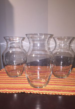 Vases - 8 inches tall (all 3 for $7) for Sale in Silver Spring, MD