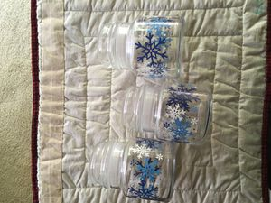 Pyrex snowflake kitchen storage jars for Sale in Lake Forest, CA