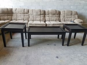 **New**Expresso Coffee Table Set for Sale in Tracy, CA