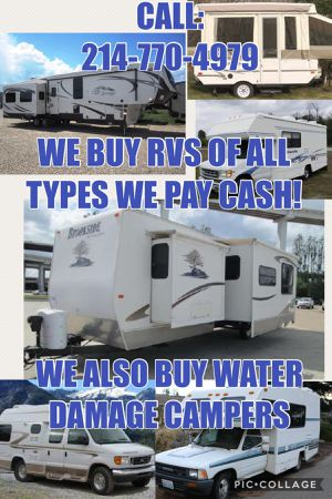 We buy travel trailer camper rv Motorhome Pop Up Camper Class c for Sale in Fort Worth, TX