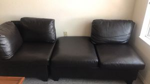 Vinyl two piece sectional for Sale in Clearwater, FL
