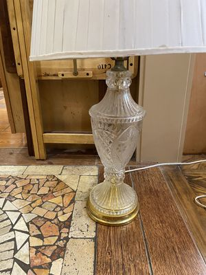 Vintage crystal lamp for Sale in Houston, TX