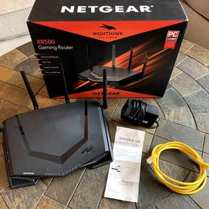 NETGEAR Nighthawk Pro Gaming XR500 WiFi Router with 4 Ethernet ports speeds up to 2.6 Gigabits for Sale in Missoula, MT