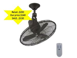 Bentley III 22 in Indoor/Outdoor Natural Iron Oscillating Ceiling Fan with Remote Control NEW for Sale in Plantation, FL