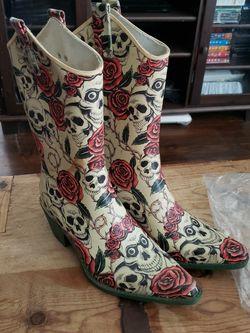 Dia De Los Muertos Rain Boots Sz 10 for Sale in Whittier,  CA