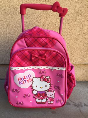 Hello Kitty rolling backpack for preschool / kinder for Sale in Los Angeles, CA