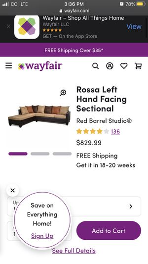 Right L shaped couch for Sale in Tigard, OR
